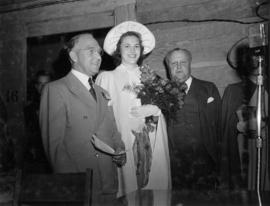 V.E.A. President J. Dunsmuir, Betty Jane Harding, and Premier T.D. Pattullo