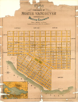 Plan of the townsite of North Vancouver