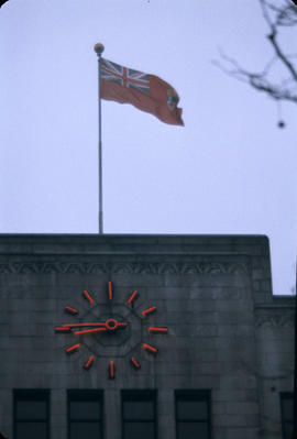 City Hall; Red Ensign from Roadway