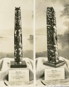 Queen Charlotte Island black slate totem pole