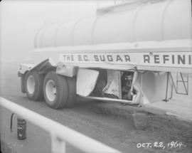 BC Sugar tank truck struck by switch engine