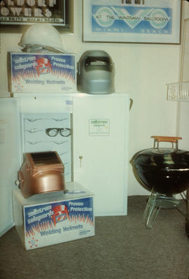 Welding helmets display at Park Royal