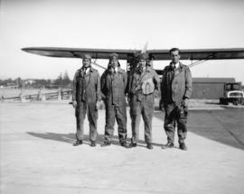 Four aviators at Jericho Beach base