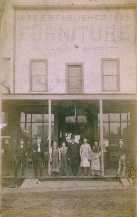 [Exterior of F.W. Hart Furniture Store - 29 Cordova Street]