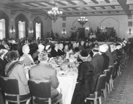 [A civic luncheon for H.R.H. Princess Elizabeth and H.R.H. Philip Duke of Edinburgh at the Hotel ...