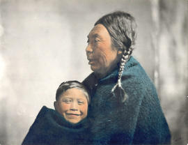 Ne-Kow-Se-Sla (Mrs. Warcas) with her grandson