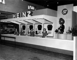 Heinz display of condiment products