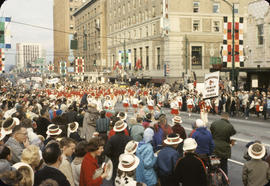 48th Grey Cup Parade, on Georgia and Howe, Vancouver Junior Band