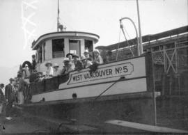 [The West Vancouver Ferry No. 5 at dock]