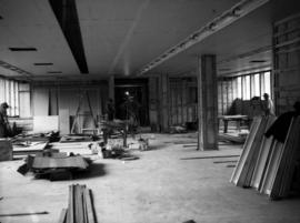 Construction of new office building: interior finishing