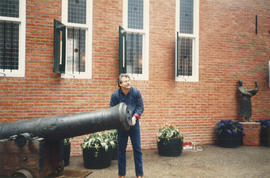 Man with cannon at Castle Vancouver opening