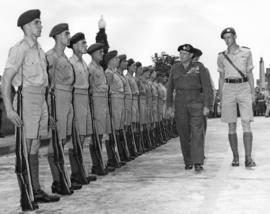 Field Marshal the Viscount Montgomery of Alamein, G.C.B. inspecting the Guard of Honour at City Hall