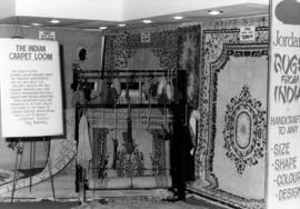 Jordans display of rugs from India