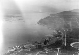 Looking East showing Second Narrows and North Arm of Burrard (South Shore of Inlet - Hastings East)