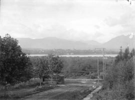 [View from 2532 Columbia Street at 9th Avenue (Broadway), looking north to downtown Vancouver]