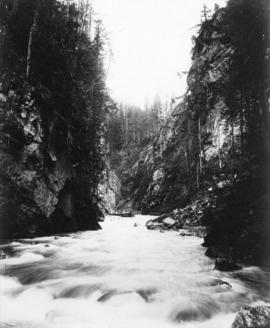 Albert Canyon from below, C.P.R. Selkirk