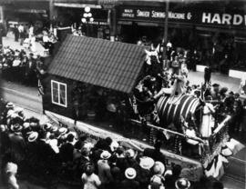[Vancouver Breweries Ltd. float in the 600 Block of Granville Street during a Victoria Day parade]