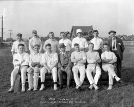 Fish Dealers C[ricket] C[lub] - Runners Up For Creham Cup Season 1921