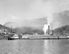 "[""Prince Rupert"" docked at Pacific Mills Ltd. dock]"