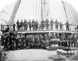 "Group of ""Zealous"" Officers 1868 Esquimalt"