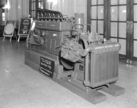 A.R. Williams Machinery Company compressor in Vancouver Hotel lobby
