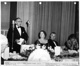 Chief Justice Sherwood Lett making a speech at an official dinner