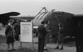 [A Hadrian Glider on display at airshow]