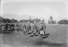 72nd Seaforths marching