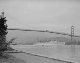"""Empress of Canada"" under Lions Gate Bridge"