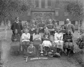 Carleton School Athletic Club [with trophy]
