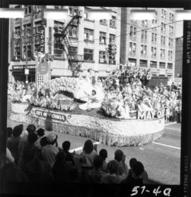 City of Victoria float in 1957 P.N.E. Opening Day Parade