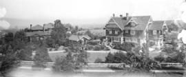 [View of the L.W. Shatford house and grounds at 3338 The Crescent from Tecumseh Avenue]
