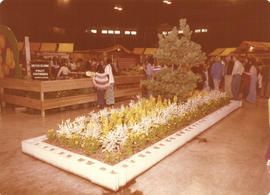 British Columbia Fruit Growers Association display booth with horticultural display