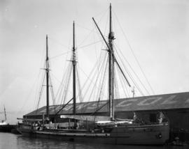 """Lady Kindersley"" docked at Evans & Coleman"