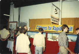 Citizens for Rapid Transit display booth