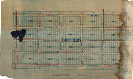 Vancouver, B.C. Plan showing location of water pipes, hydrants, etc. [South Granville]