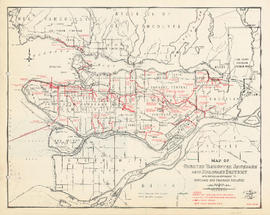 Map of Greater Vancouver sewerage and drainage district with particular reference to sewerage and...