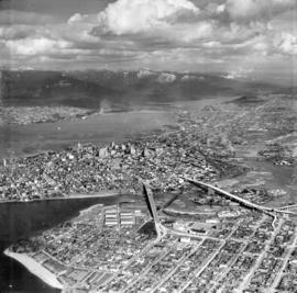 [Aerial view of Vancouver looking northeast]