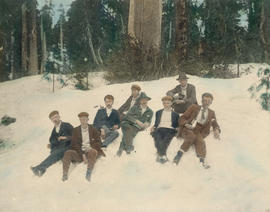 [A group of men] on Grouse Mountain