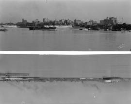 [Two panoramic views of the Vancouver waterfront]