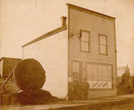 [Exterior of A.W. Ross Real Estate and E.C. Coulding Law Office building on Hastings between Home...