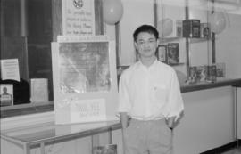 Paul Yee at Killarney Secondary School library