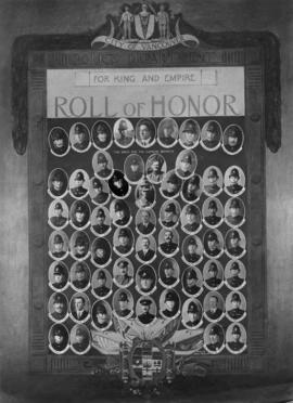Roll of Honour [composite image of police officers who served in World War One]