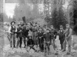 Group of men at Capilano water works