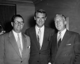 Ivan Ackery of Orpheum, actor Cary Grant [and] Charlie, doctor of [Cap?]