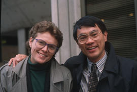 Paul Yee and his Archives of Ontario colleague Catherine Shepard