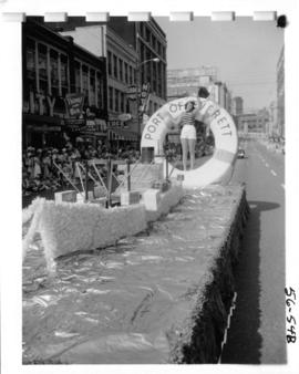 Port of Everett float in 1956 P.N.E. Opening Day Parade