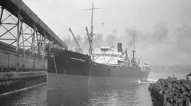 "[S.S. ""Canadian Freighter"" at dock]"