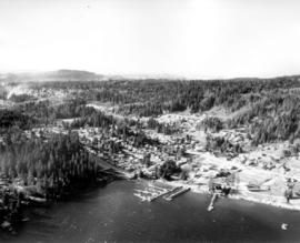 [Aerial view looking west south-west of the] District of North Vancouver