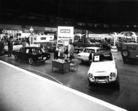 Datsun sedans at car show in Pacific Coliseum